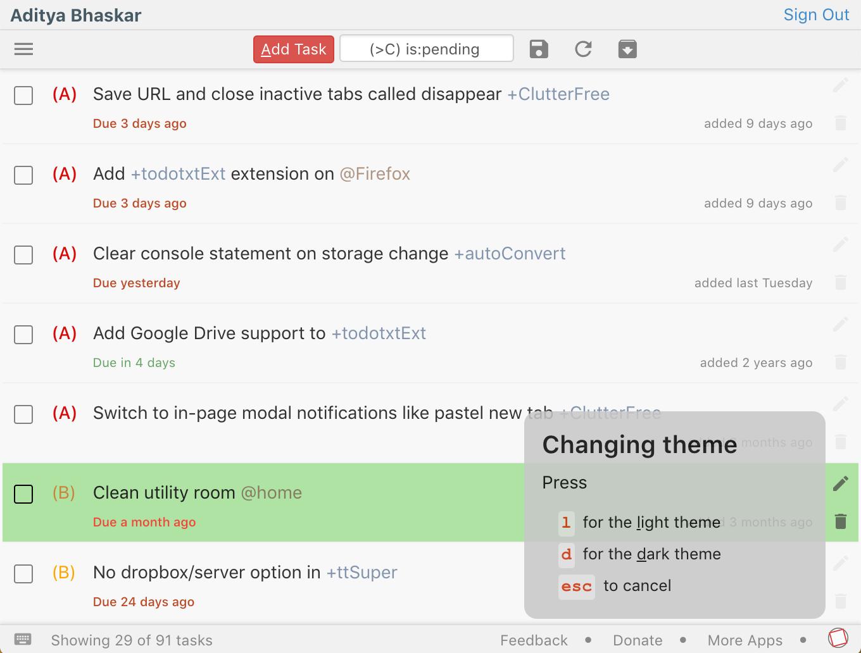 Todo txt for Chrome – App Updates