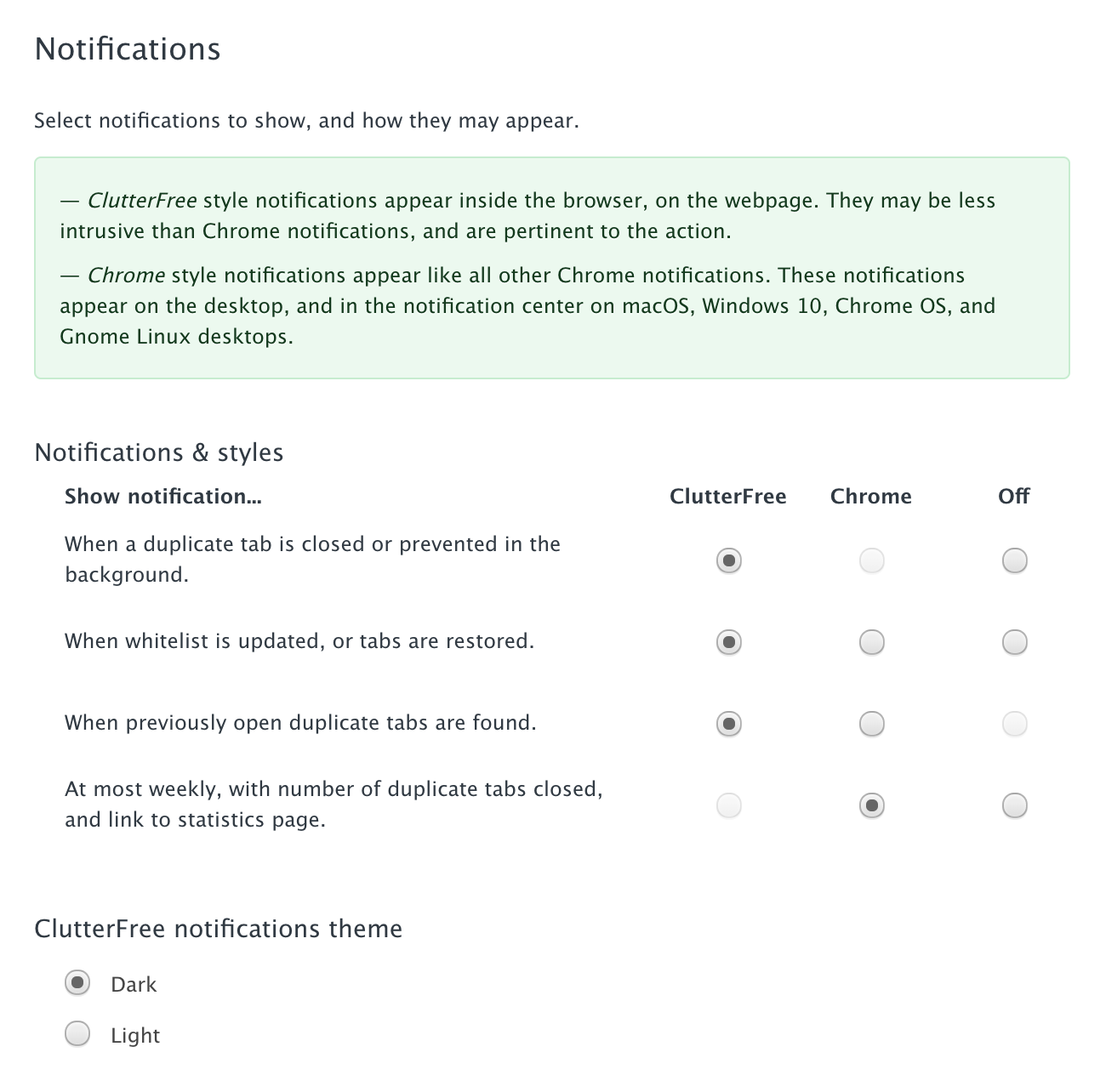 Clutter Free – In-tab notifications, better notification